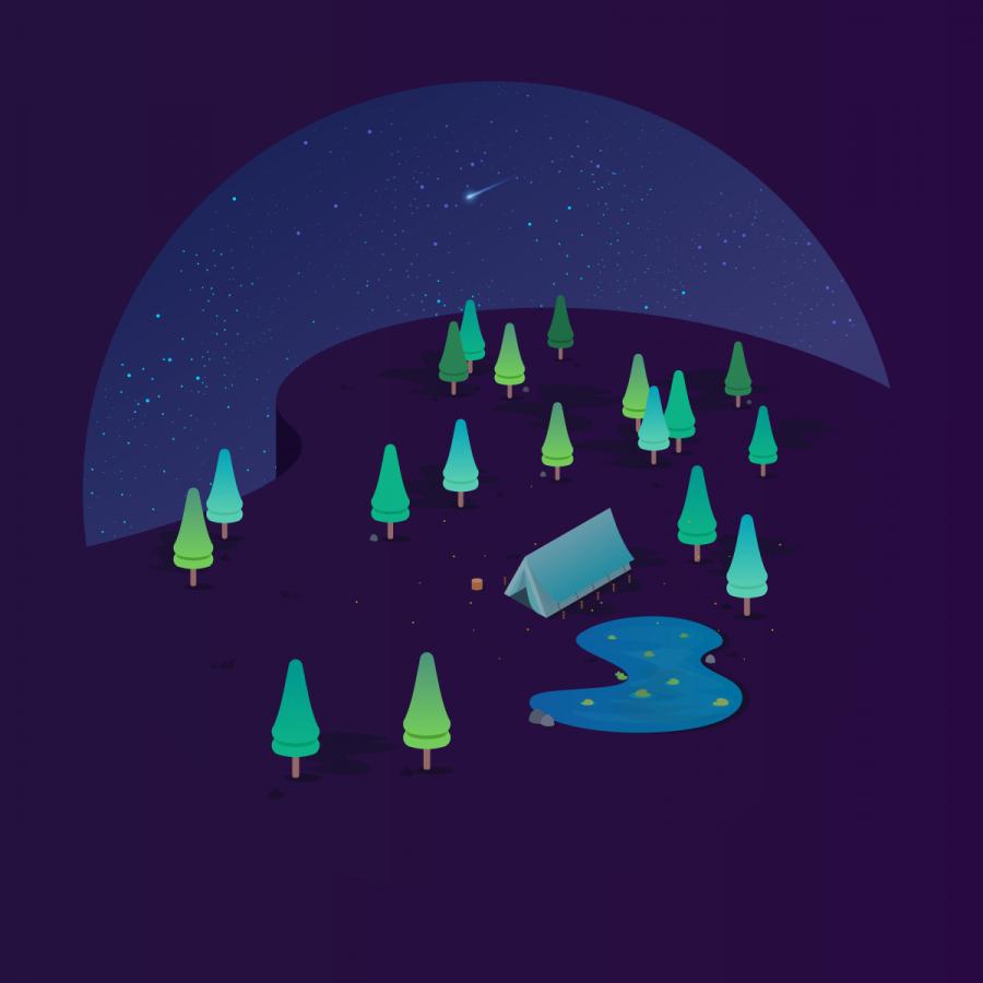 Acampando bajo las estrellas por Jessica Vaslam