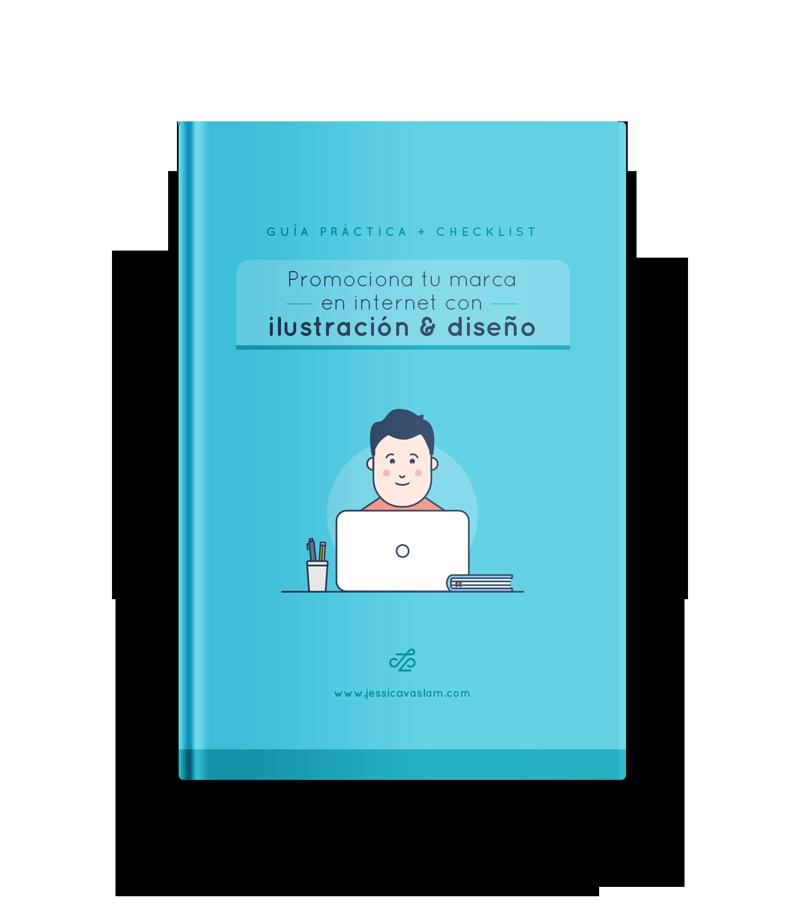 Guía + Checklist Promociona tu marca con ilustración y diseño