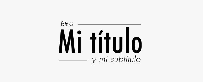 Jerarquía visual con tipografía