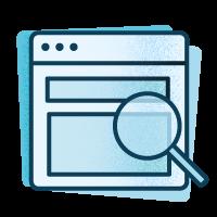 Icono investigación dentro del proceso creativo en el diseño de un buen logo