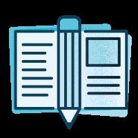 Icono bocetación dentro del proceso para diseñar un logo