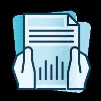 Icono presentación de proyecto de diseño