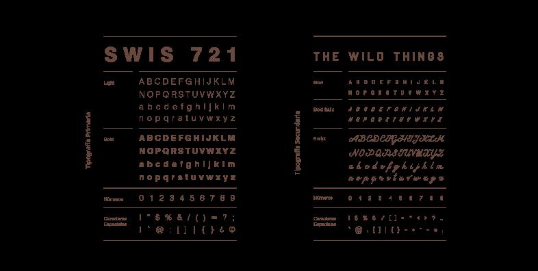 Ejemplo tipografías manual de identidad