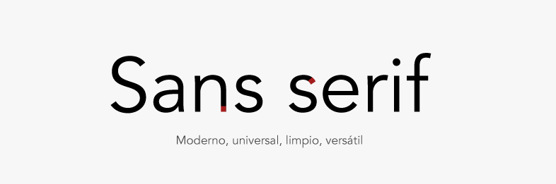 Tipografía Sans Serif