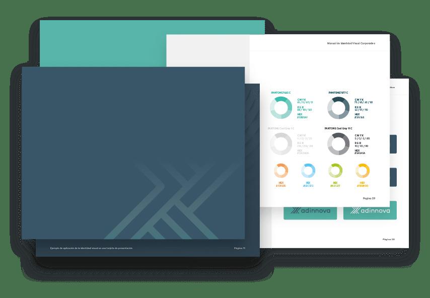 Servicios de identidad visual corporativa, diseño de logos, manuales